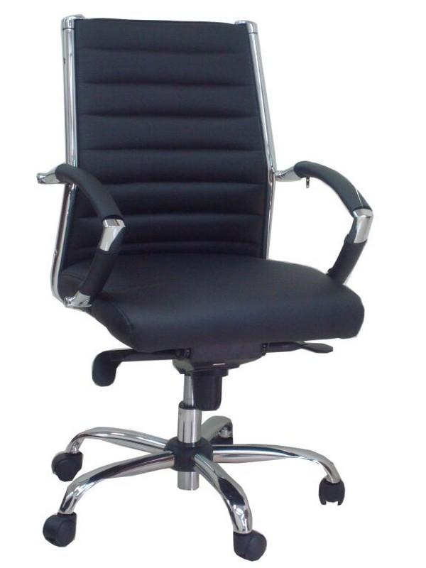 כסא דגם שי גב בינוני שחור