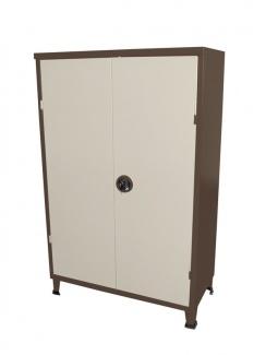 ארון מתכת נמוך 2 דלתות שני גוונים