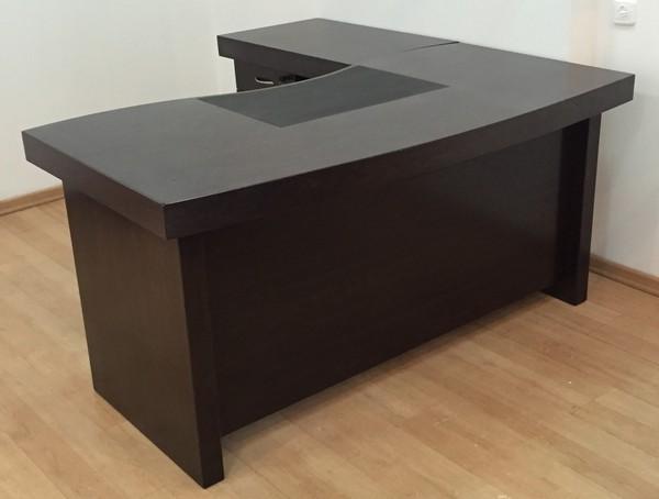 שולחן דגם גל דמוי פורניר וונגה