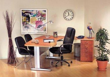 שולחן משרד גל רגל מתכת