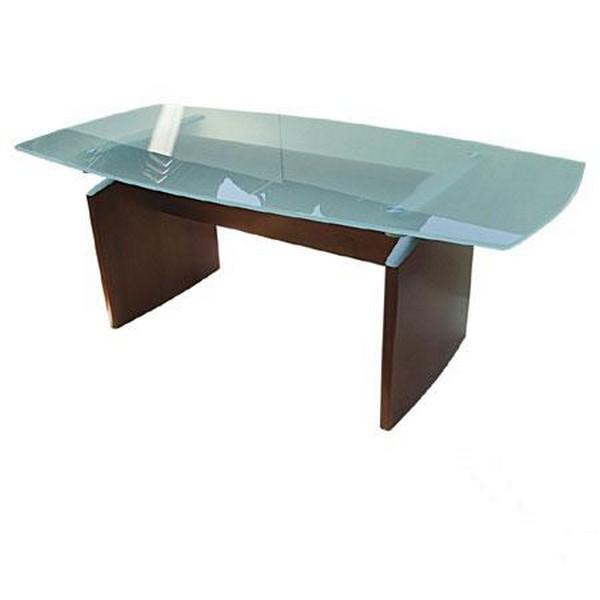 שולחן ישיבות זכוכית אובלי