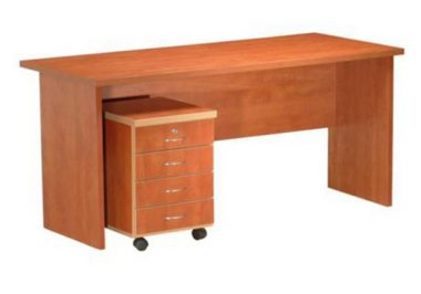 שולחן מזכירה + ארגז מגירות נייד