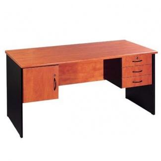 שולחן מזכירה + מגירות + דלת
