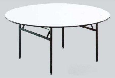 שולחן עגול רגליים מתקפלות