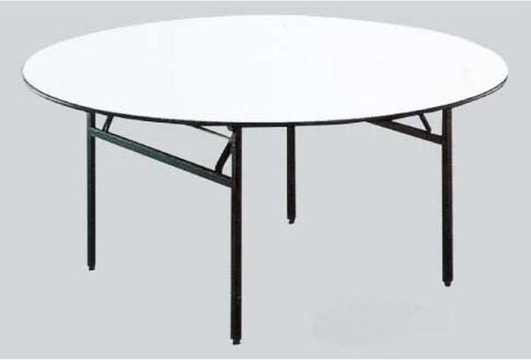 """שולחן עגול קוטר 1.20 ס""""מ רגל מתקפלת"""