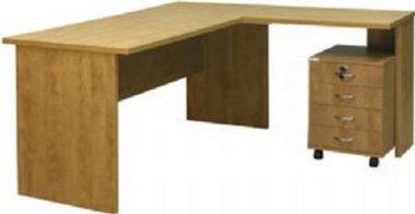 שולחן + שלוחה רתומה + ארגז מגירות נייד