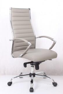 כסא משרדי גבוה מדגם שי בצבע אפור