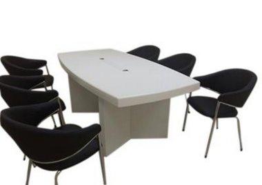 שולחן ישיבות דגם 2005 לבן – תמיר