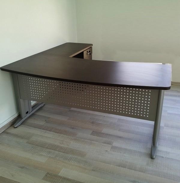 שולחן גל מלמין רגלי מתכת אלפא