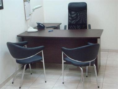 שולחן גל מלמין בצבע חום