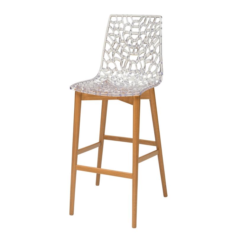"""כסא בר דגם """"דייזי"""" רגל קונוס"""