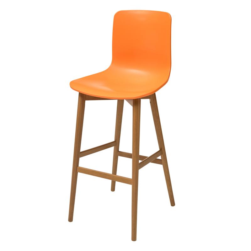 """כסא דגם בר """"רומאו"""" רגל קונוס"""