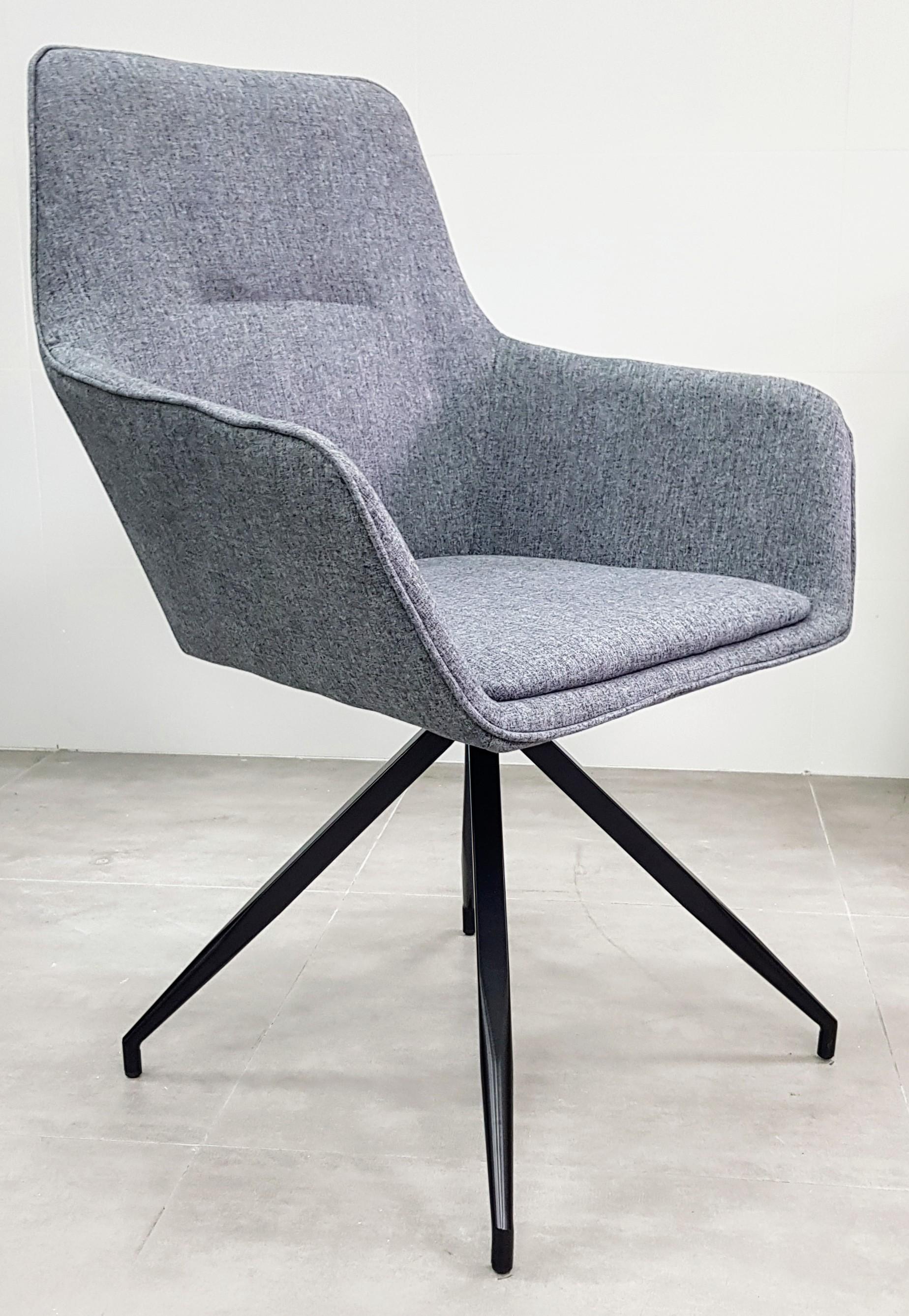 """כסא אורח דגם """"נאפולי"""" אפור בהיר"""