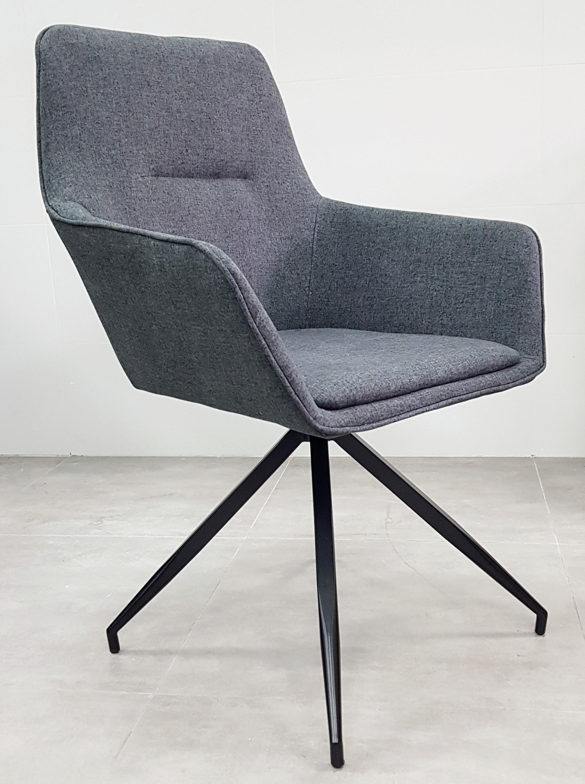 """כסא אורח דגם """"נאפולי"""" אפור כהה"""