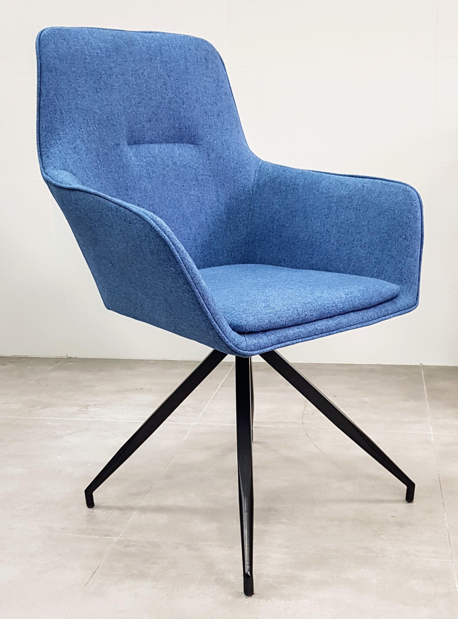 """כסא אורח דגם """"נאפולי"""" כחול"""