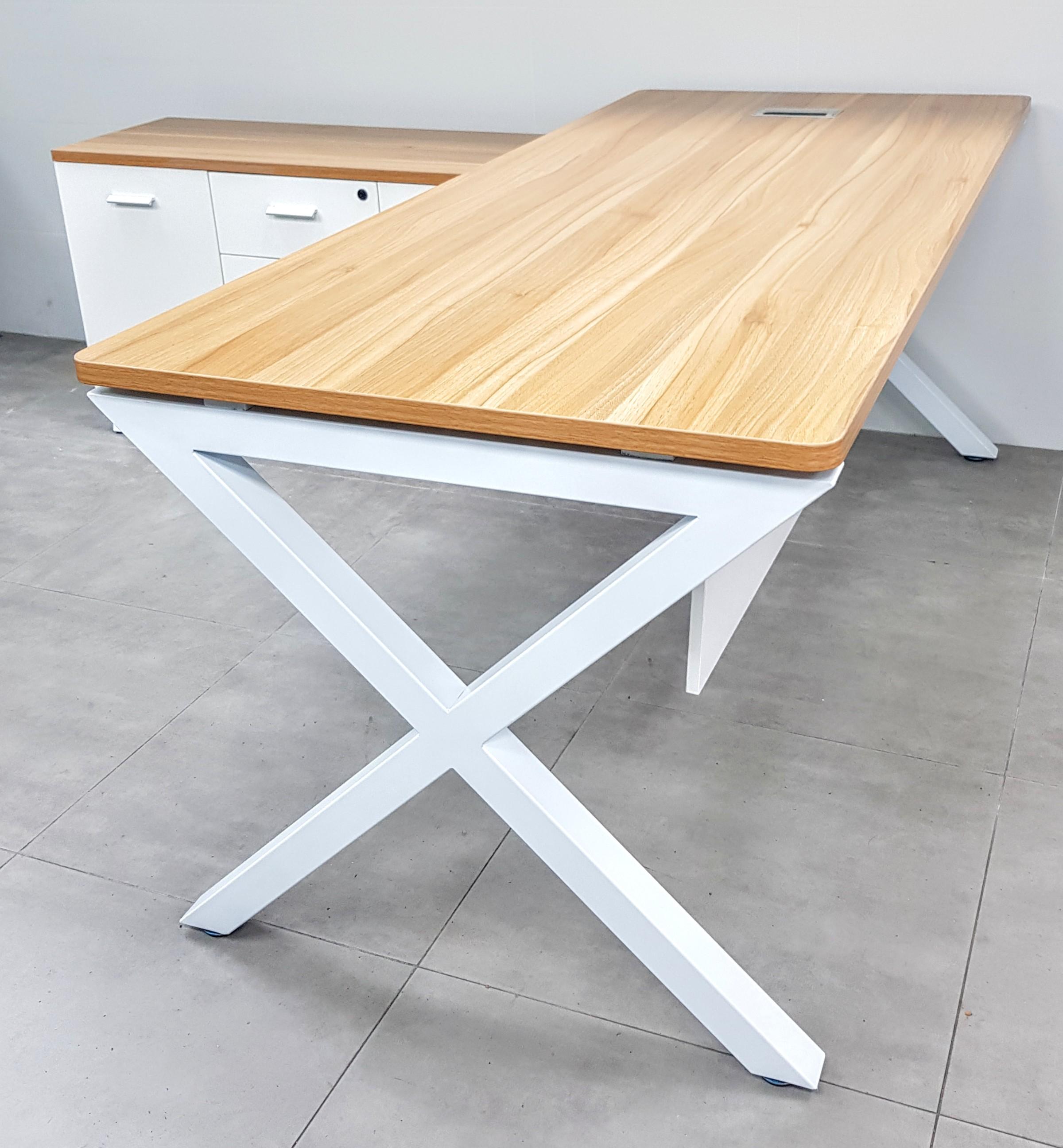 שולחן מנהל דגם A-45 לבן- אלון