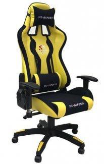 כסא גיימרים צהוב שחור