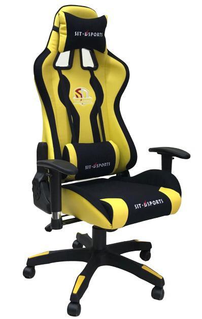 כסא גיימרים פרימיום צהוב שחור