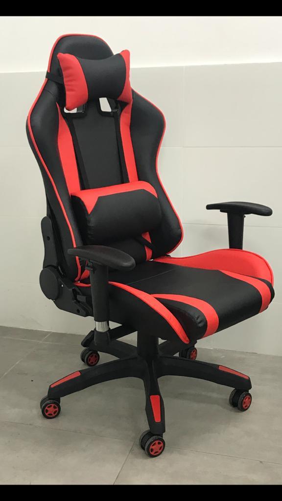 כסא גיימרים פרימיום אדום שחור