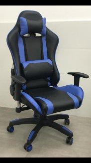 כסא גיימרים כחול שחור