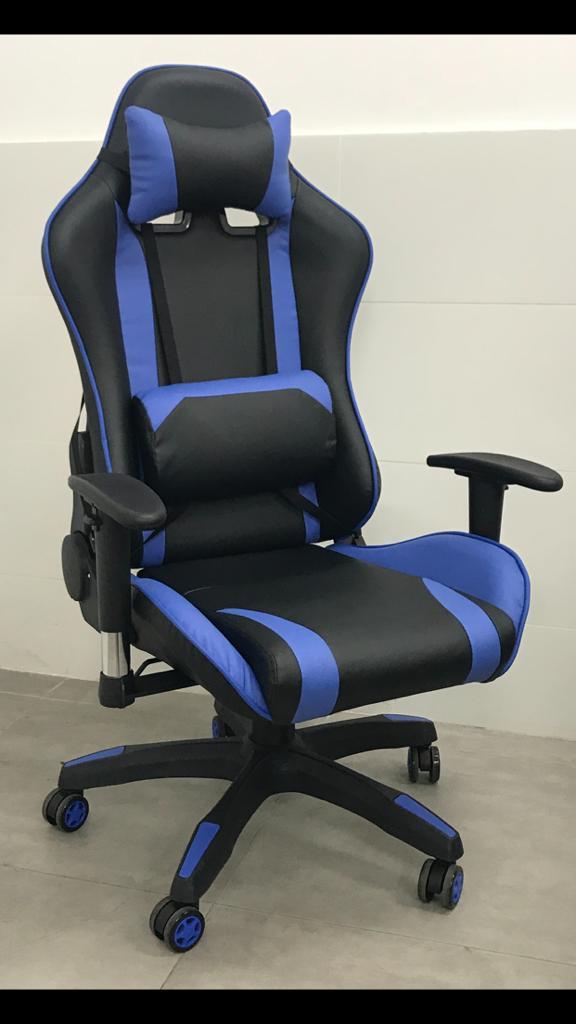 כסא גיימרים פרימיום שחור כחול