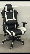 כסא גיימר שחור לבן