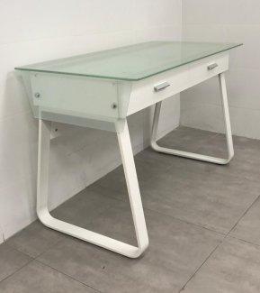 שולחן מחשב זכוכית דגם אביגיל