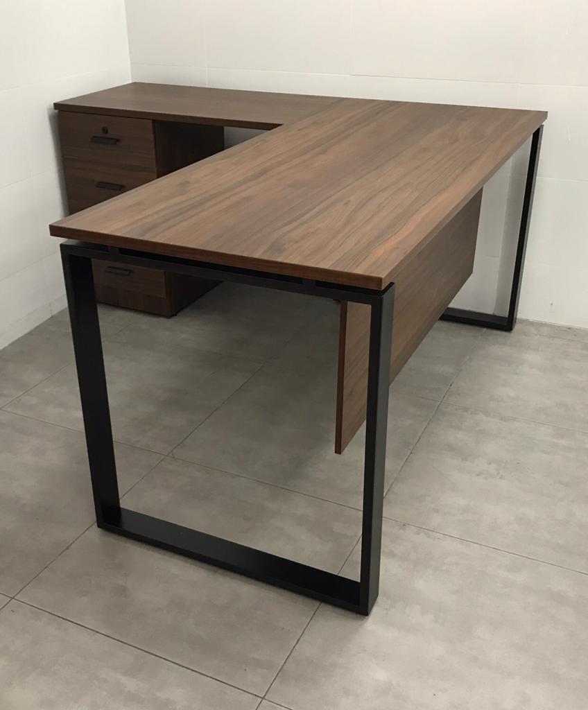 שולחן פלזמה 160/70/160 צבע 603 בשילוב שחור