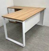 שולחן פלזמה 160-70 כולל שלוחה 90-50 צבע 602 שילוב לבן