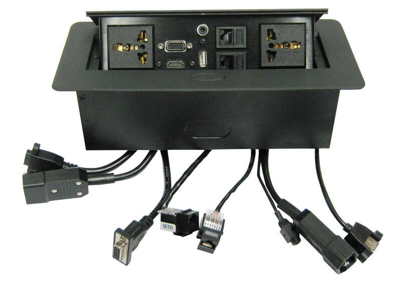 קופסת תקשורת קפיצית לשולחן ישיבות