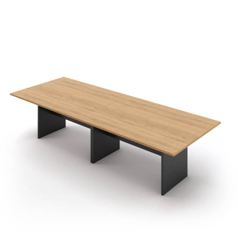 """שולחן ישיבות דגם """"מטריקס"""" במידה 280X100 בנוי 2 חלקים"""